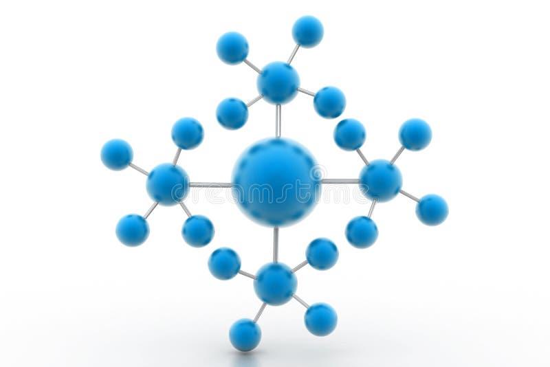 model molekyl royaltyfri illustrationer
