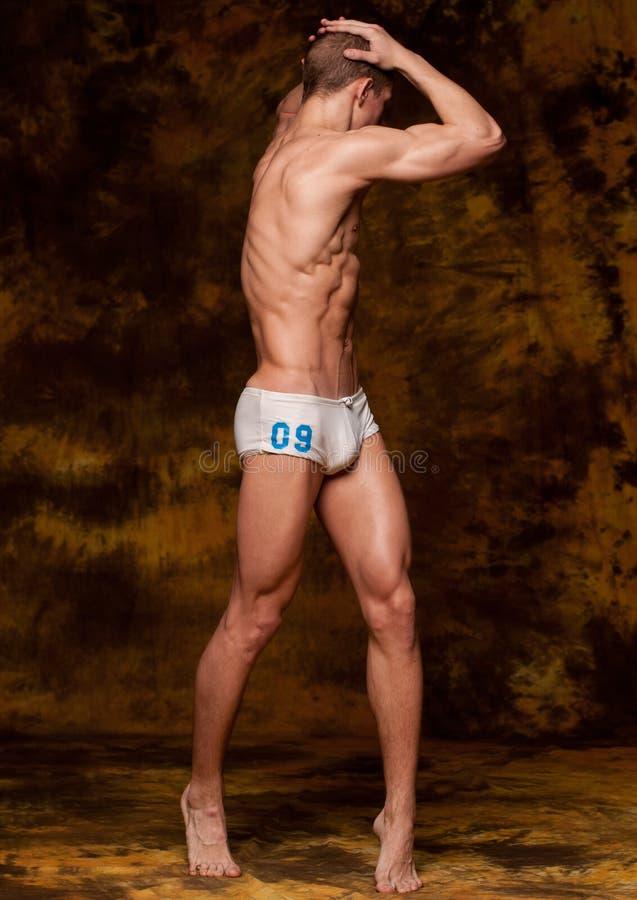 model muskulöst royaltyfri foto
