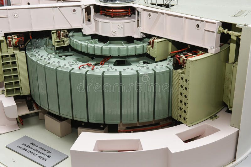 Model Of A 1000 MW Steam Turbine Editorial Stock Image
