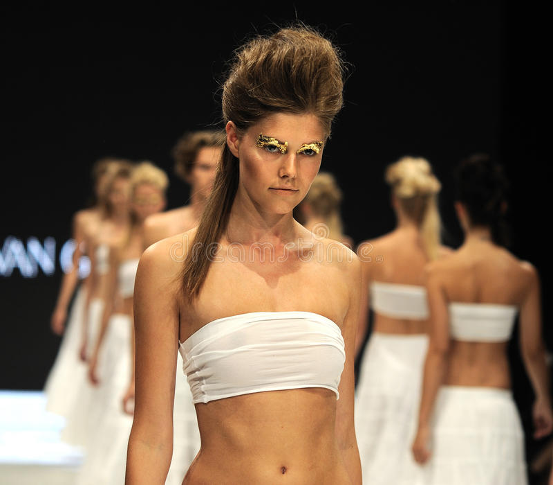 Model na wybiegu 2012 fotografia royalty free