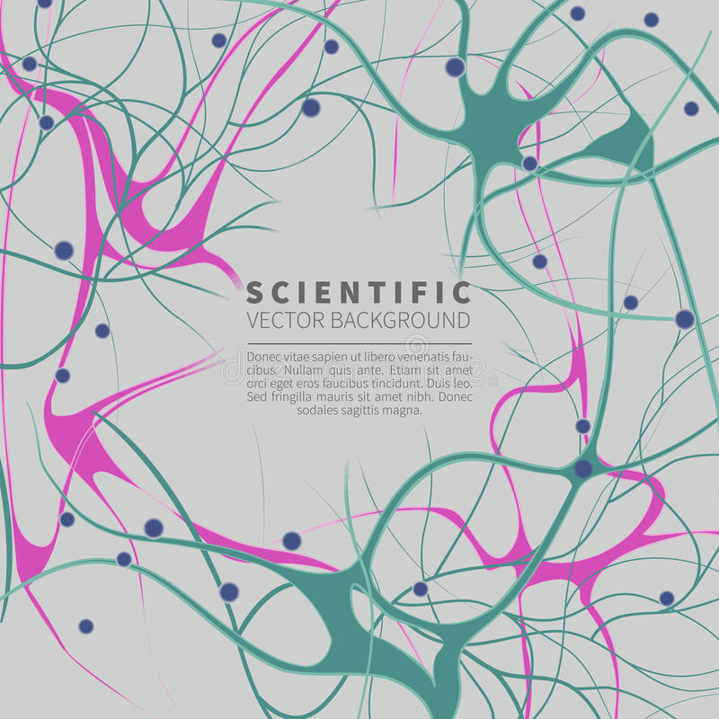 Model neural system ilustracja wektor