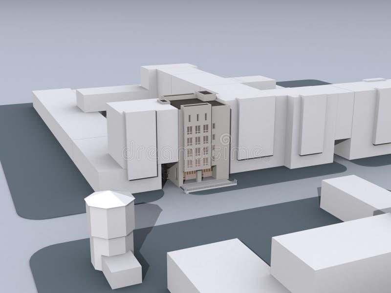 Model nowożytni budynki royalty ilustracja