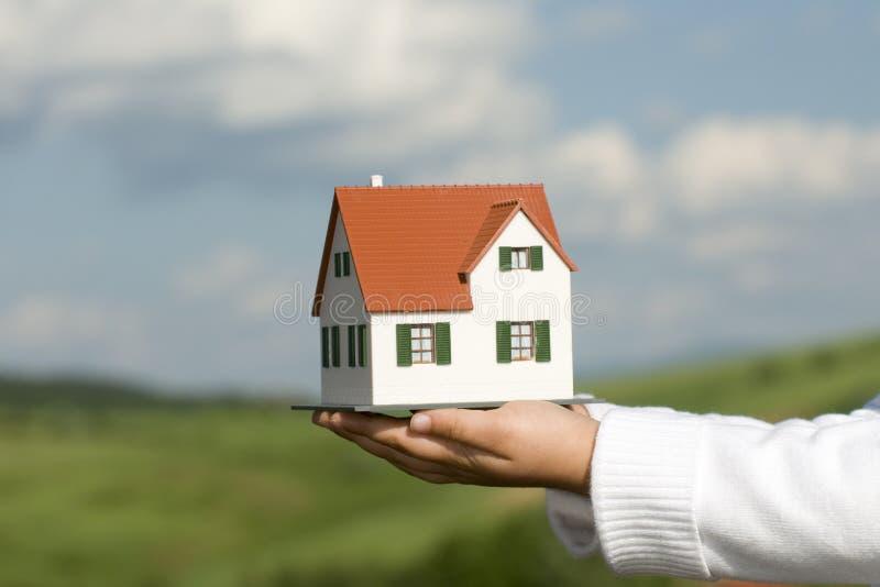 model nytt för hus arkivfoton