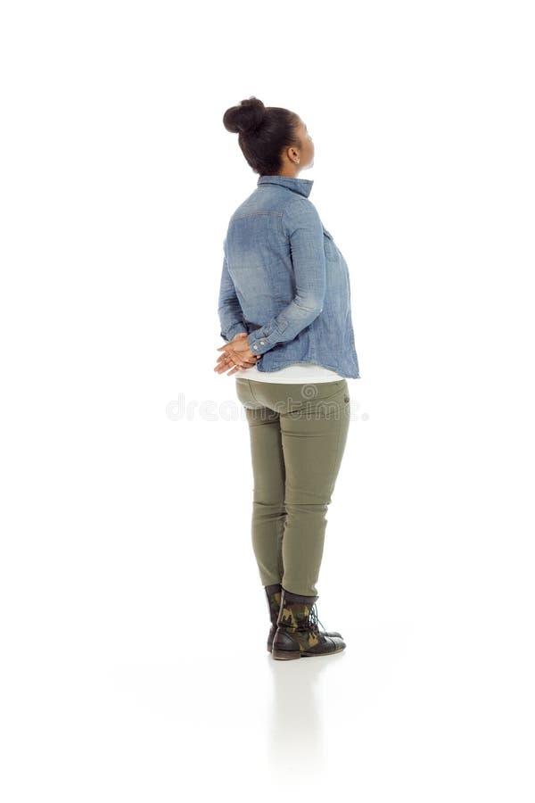 Model odizolowywający od behind zdjęcia stock
