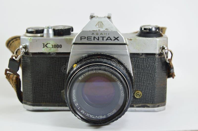 Model of Pentax K 1000 a classic film camera. Bangkok Thailand -April 20, 2015 - Model of Pentax K 1000 a classic film camera royalty free stock photo
