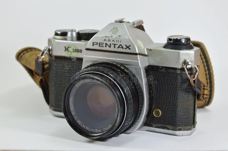 Model of Pentax K 1000 a classic film camera. Bangkok Thailand -April 20, 2015 - Model of Pentax K 1000 a classic film camera royalty free stock image