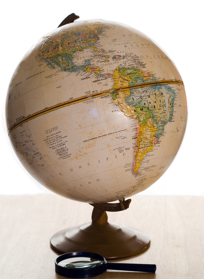 Model Of Planet Earth stock images