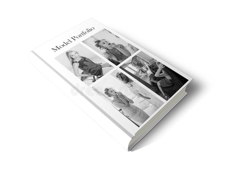 Model Portfolio Book stock image