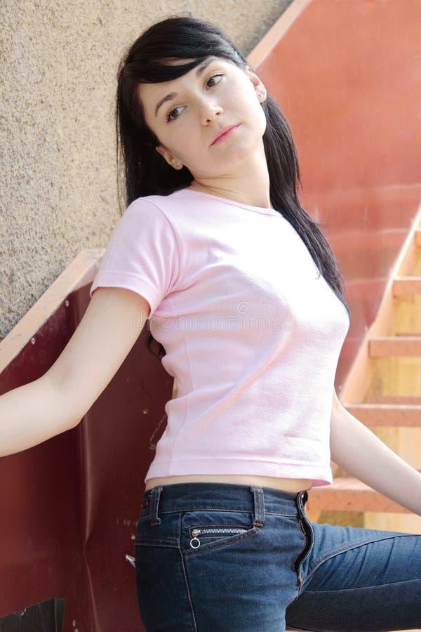 A model posing stock image