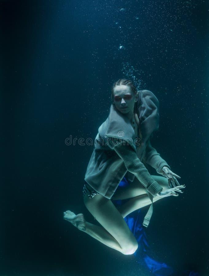 Model Posing Underwater Free Public Domain Cc0 Image