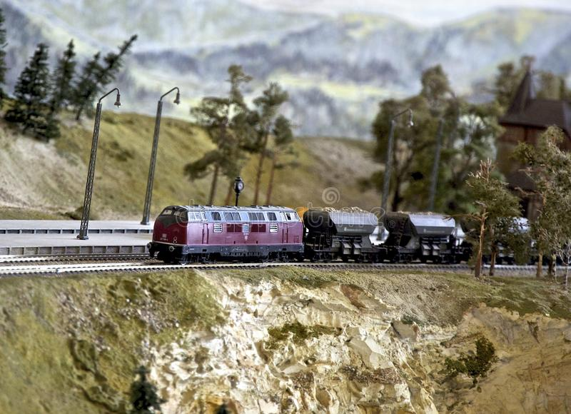 Model railroad royalty free stock photo
