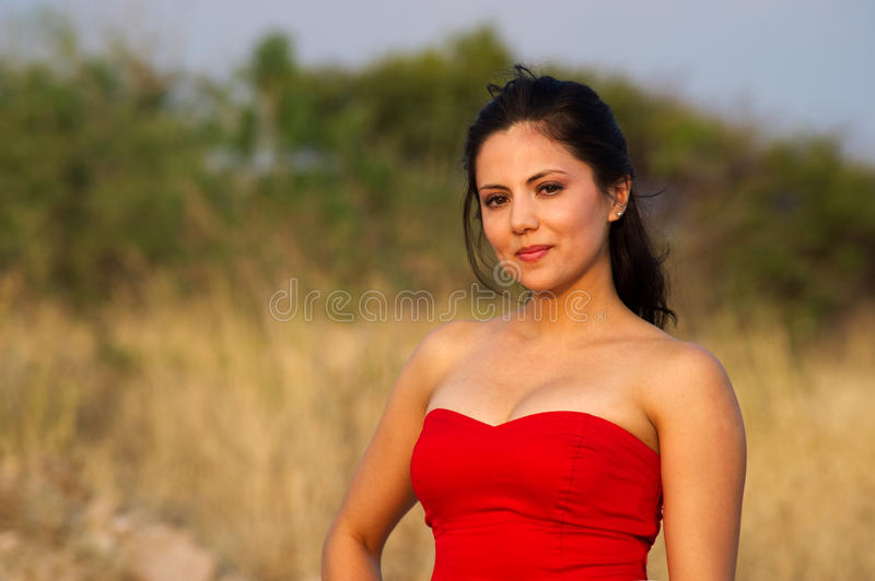 Download Woman  In Red Dress Royalty Free Stock Photo - Image: 26612815