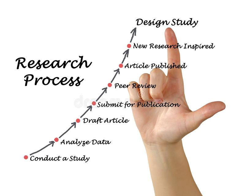 Model of the Research Process vector illustration