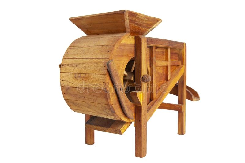 Model rice mill from wooden for thai farmer in thailand stock images