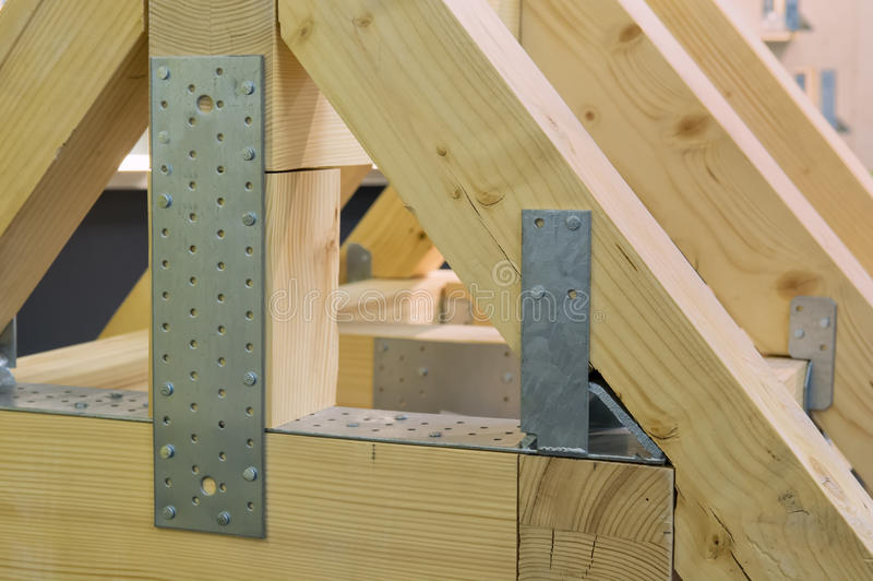 Model of a roof truss. A Model of a roof truss stock photo