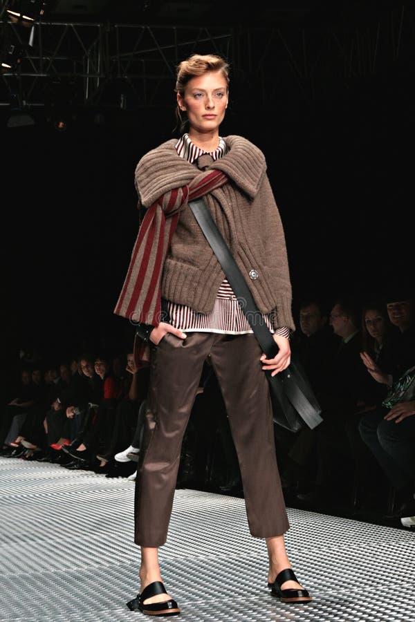 Model russian fashion week stock photography