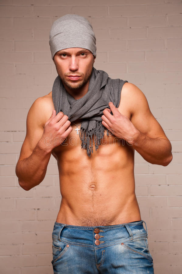 model scarf arkivbilder