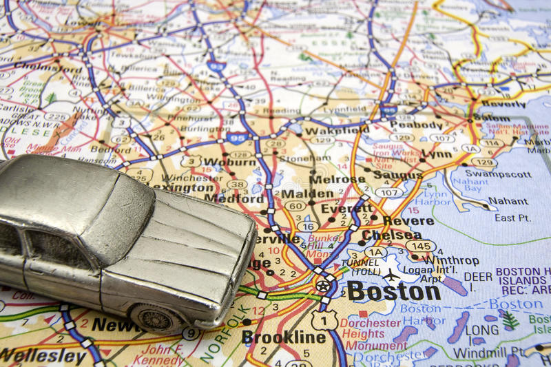 Driving in Boston royalty free stock image