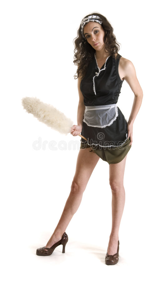 Download Model in maid outfit stock photo. Image of woman, maid - 8457934