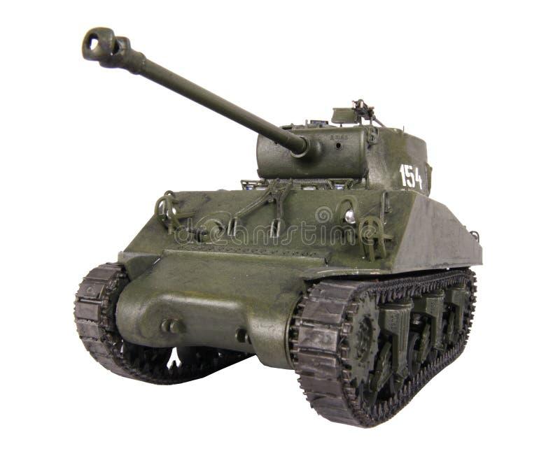 Model of Sherman tank royalty free stock image