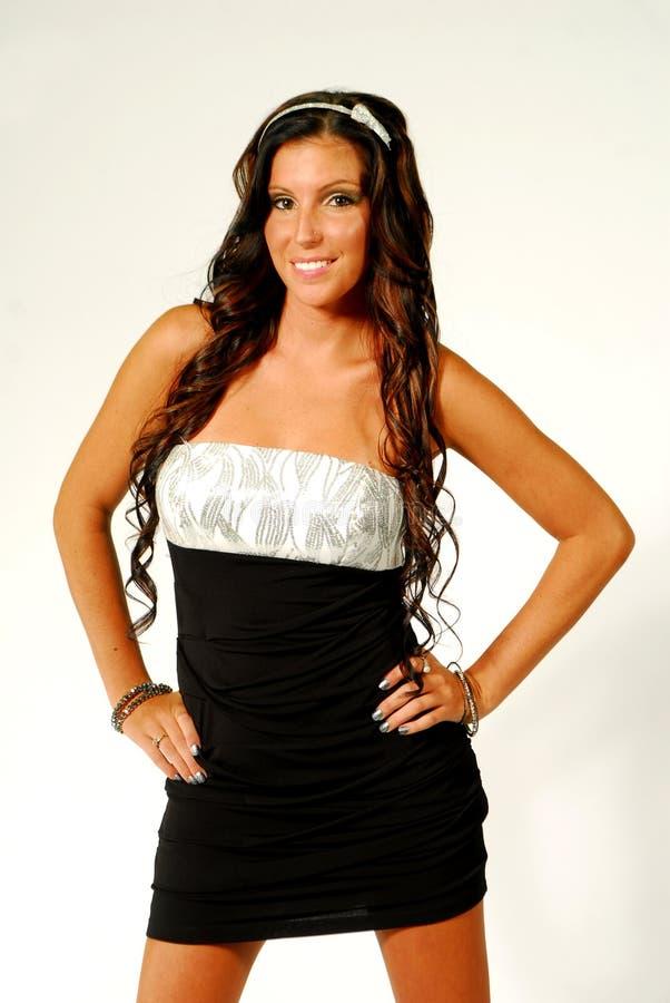 Model In Short Skirt Royalty Free Stock Images