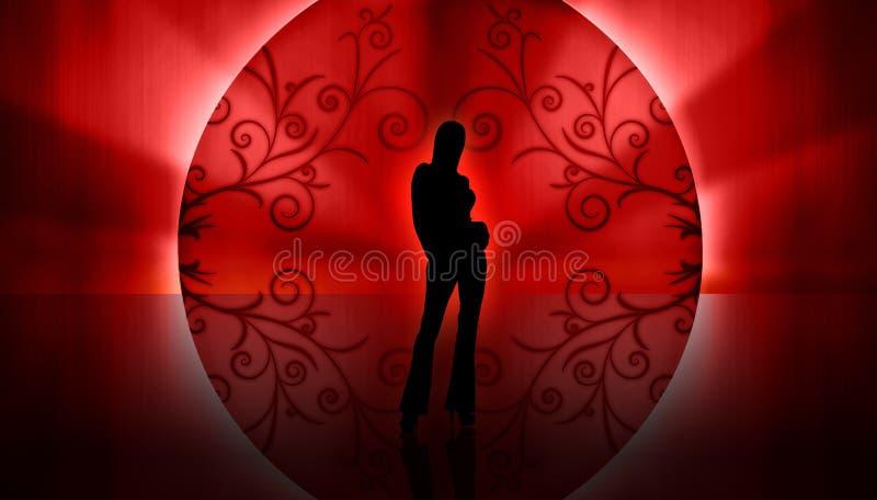 Download Model Silhouette stock illustration. Illustration of catwalk - 7495178