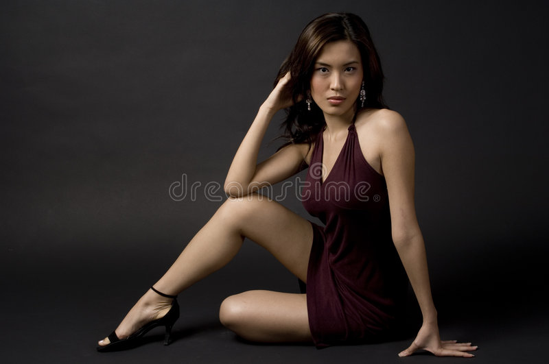 Model Sitting stock images