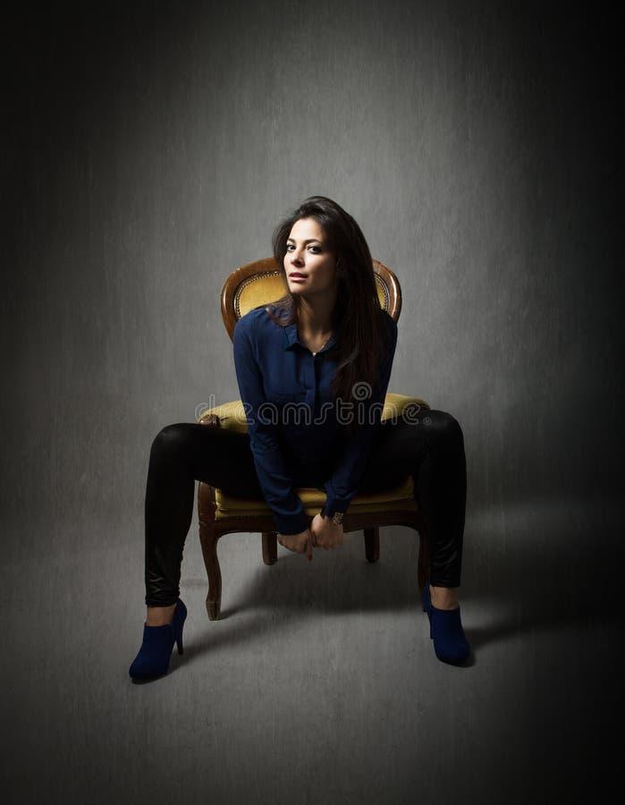 Model sitting royalty free stock image