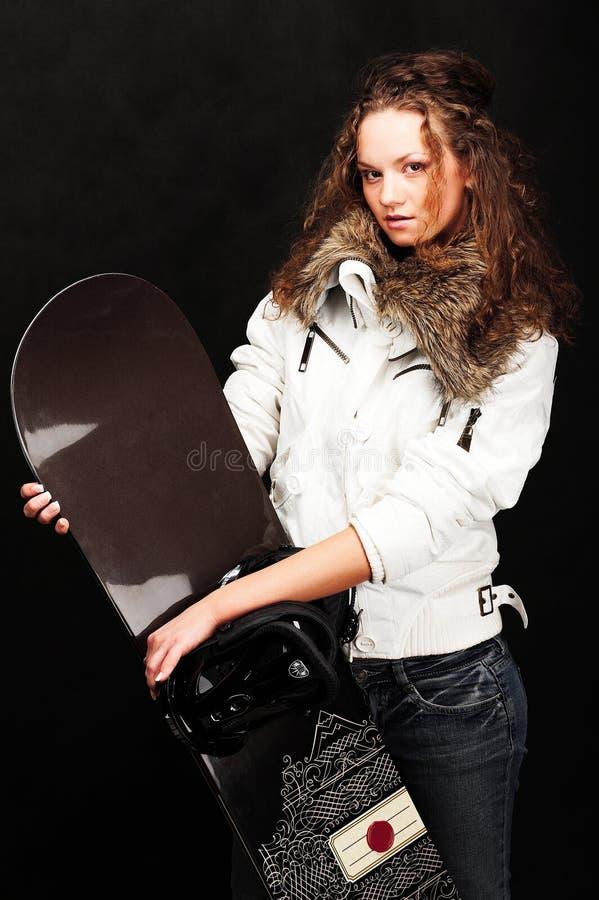 model snowboard royaltyfri foto