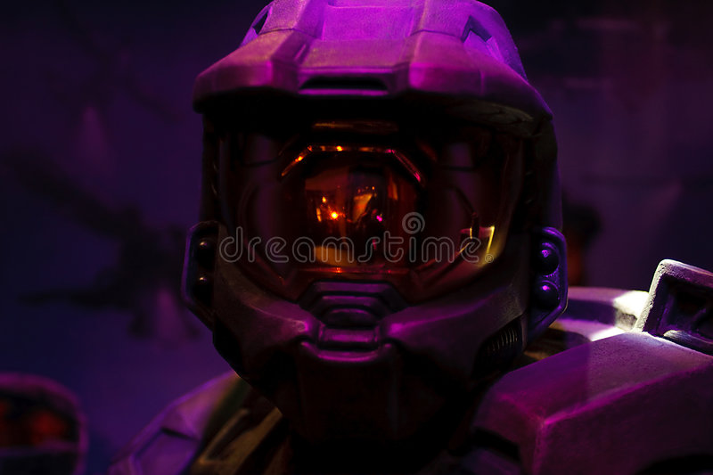 Model of space marine solder royalty free stock photos