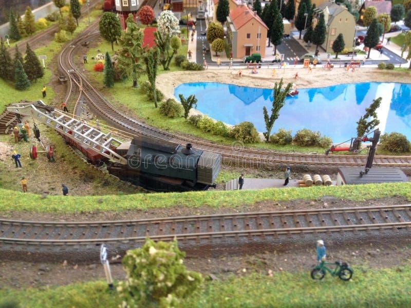 Model spoorweg stock afbeeldingen