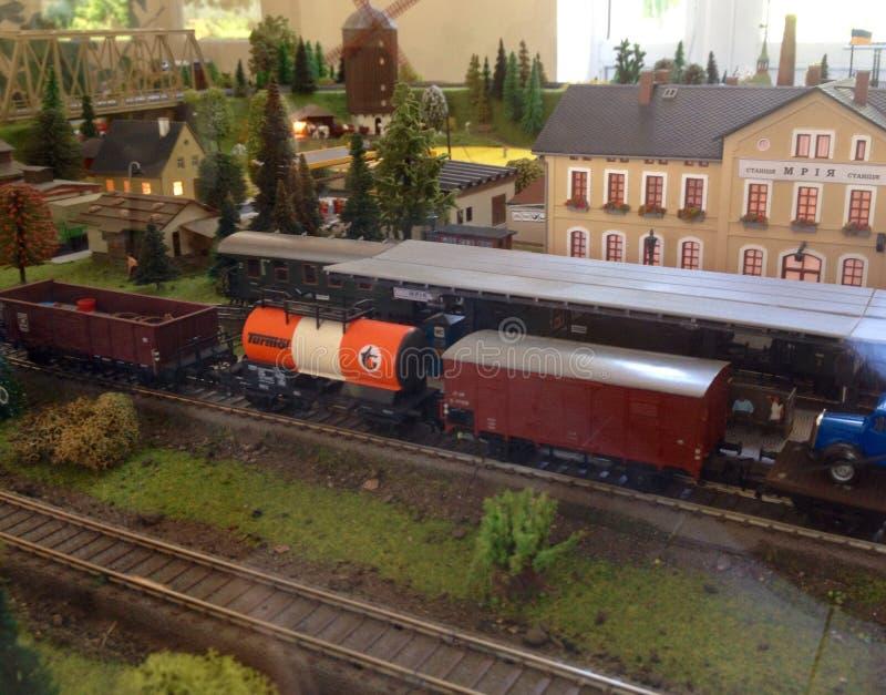 Model spoorweg royalty-vrije stock afbeeldingen