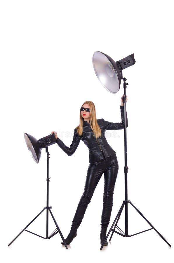 Model In The Studio Stock Photo