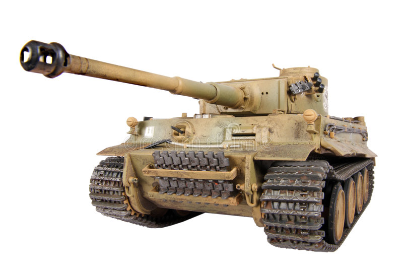 Model of Tiger tank stock photos