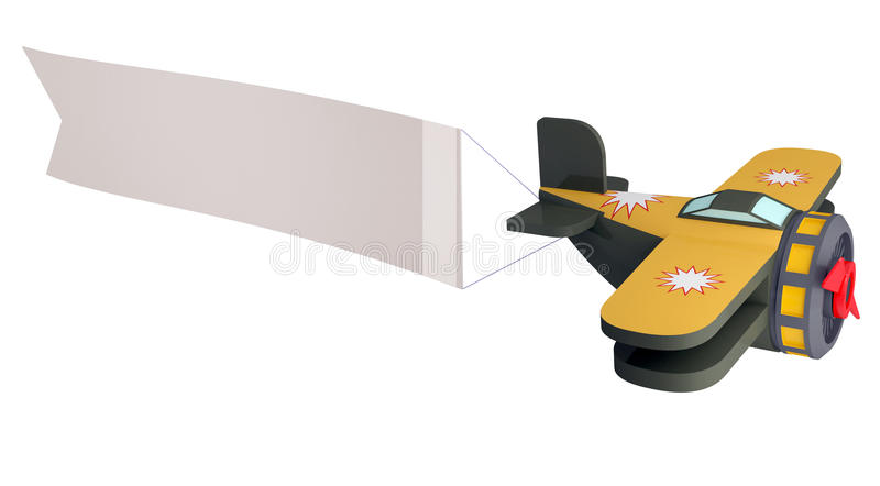 Model of the toy plane vector illustration