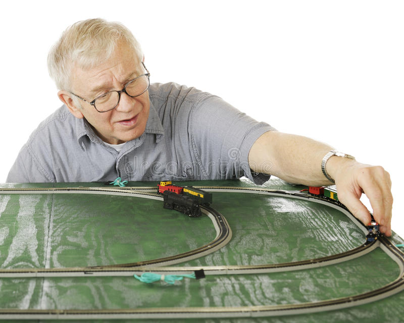 Model Train Senior royalty free stock image