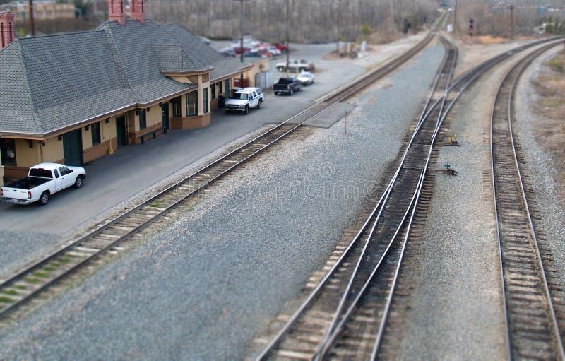Model Train Station Stock Photo