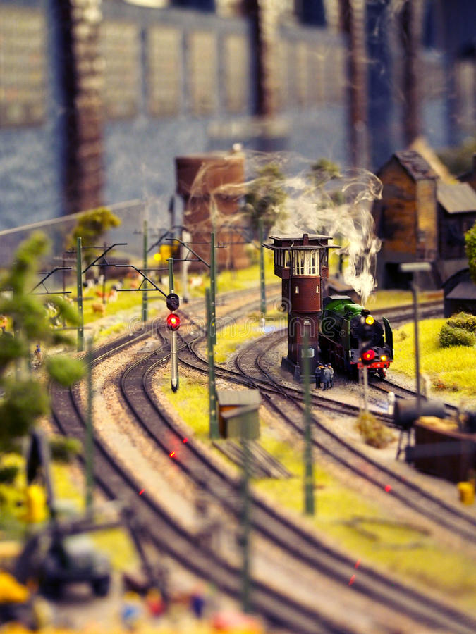 Model Train with Steam stock image