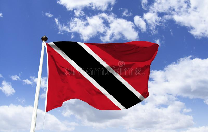 Model of Trinidad and Tobago Flag floating royalty free stock photography