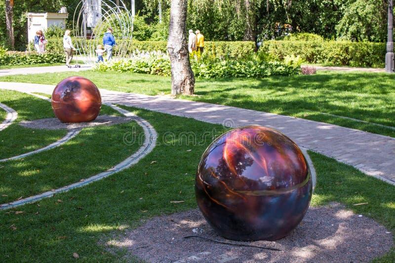 Model układ słoneczny w Sokolniki parku zdjęcia royalty free