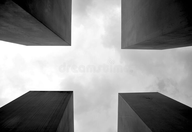 Model of urban buildings royalty free stock photo