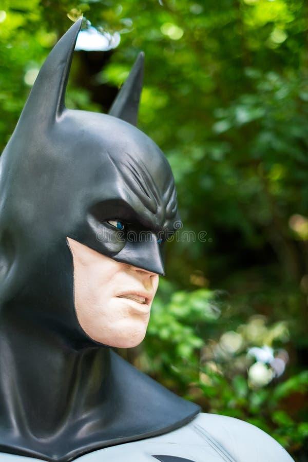 Model van Batman in Graden op 13 Oktober, 2016 in Chiang Ma stock foto's