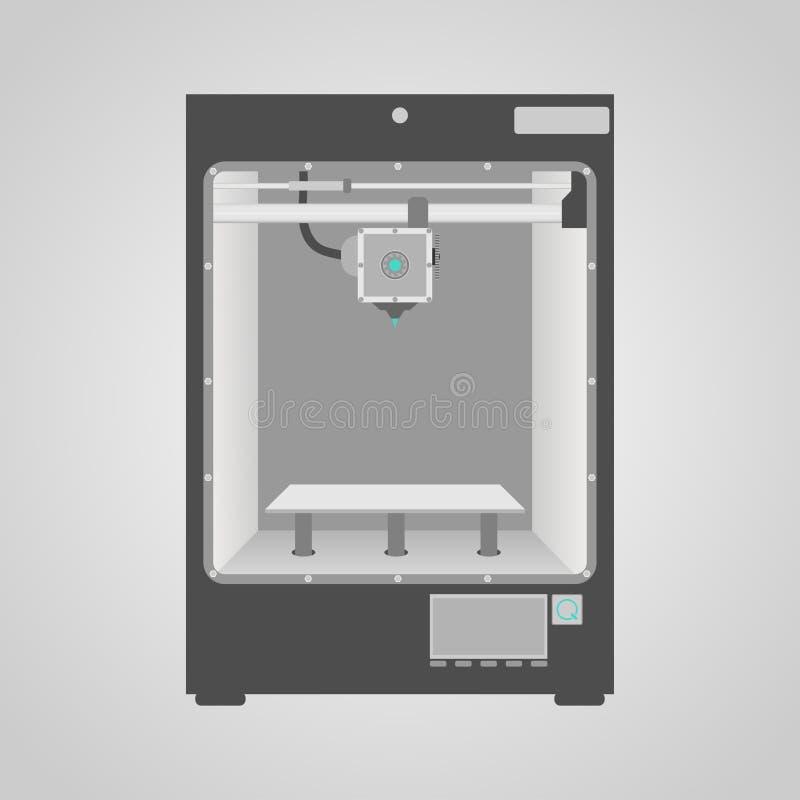 Model van 3D Printer stock illustratie