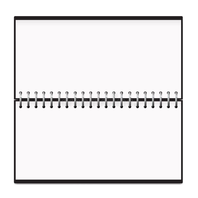 Model van de het Metaallente van de kalender het Horizontale Blocnote royalty-vrije illustratie