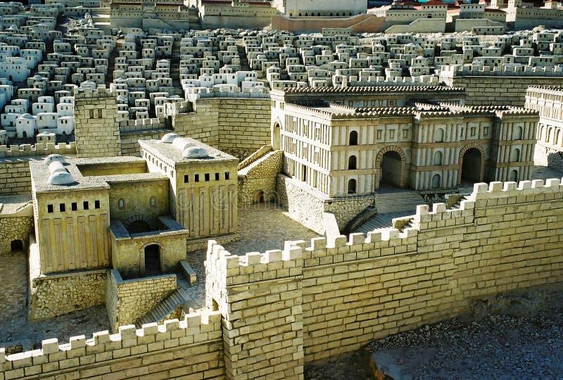 Model van de stad van Jeruzalem royalty-vrije stock foto's