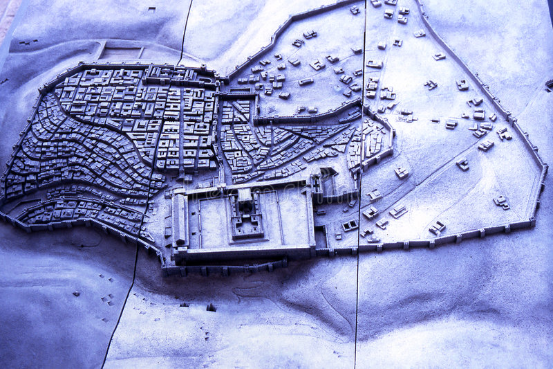 Model van de stad van Jeruzalem stock fotografie