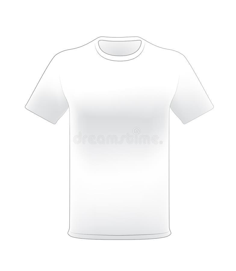 Model van de t-shirt het witte mens stock afbeelding
