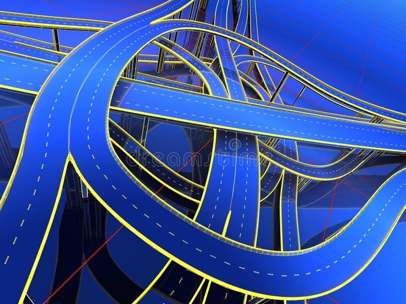 Model van de wegen vector illustratie