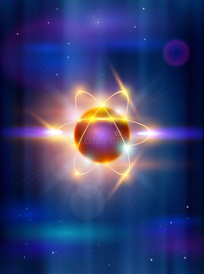 Model van het atoom vector illustratie