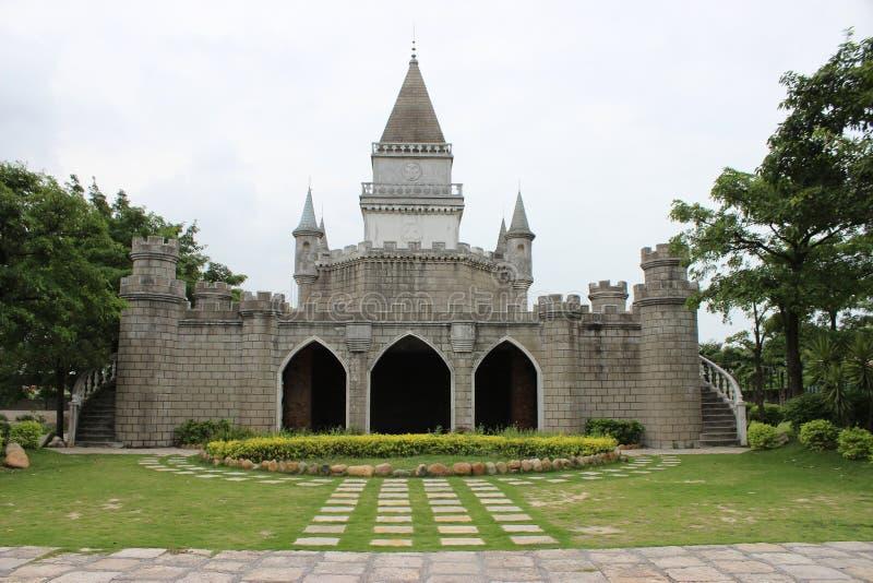 Model van het kasteel in een park royalty-vrije stock fotografie